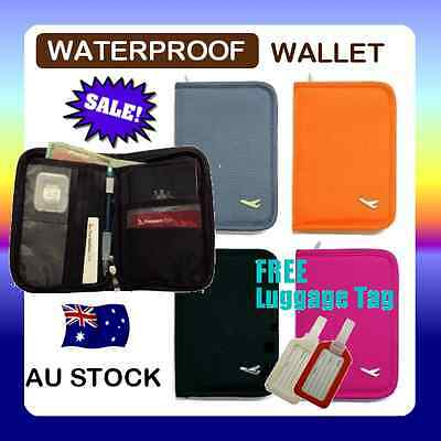 TRAVEL WALLET PASSPORT HOLDER DOCUMENT ORGANISER BAG CREDIT CARD Case C