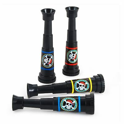 Pirate Party Telescopes Amscan Party Favour (Pack of 4) Spyglass Monocular
