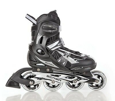 Kinder Inlineskates Inliner SCREW TEAM verstellbar 36-39 ABEC 9 - NEU!