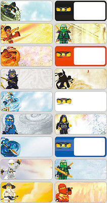 18 Lego Ninjago Personalised name Label Sticker School book vinyl Ninja kids boy
