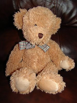 """Russ Berrie and Company Douglas the Brown Bear w/ Bow Plush Doll 15"""""""