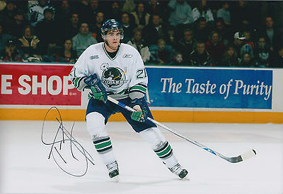 Tom SESTITO Sheffield Steelers Ice HOCKEY Signed Autograph Photo AFTAL WHALERS