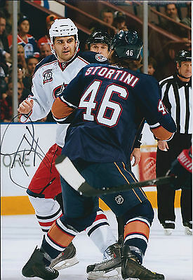 Tom SESTITO Sheffield Steelers Ice HOCKEY Signed Photo COLUMBUS FIGHT Rare