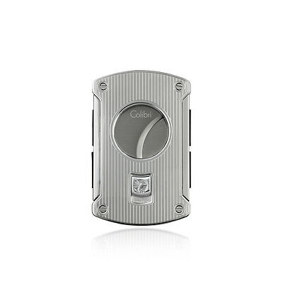 Colibri Slice Cigar Cutter Chrome Pinstripes 64 Ring Gauge Luxury Gift Boxed