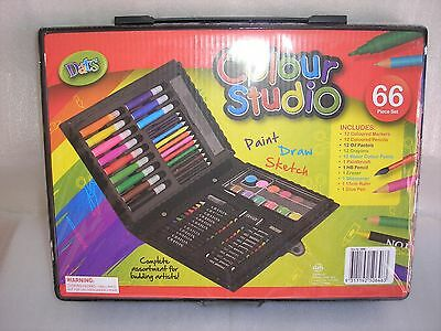 Art Set 66 Piece Complete Colour Studio  Free Postage Superfast Delivery..!!!