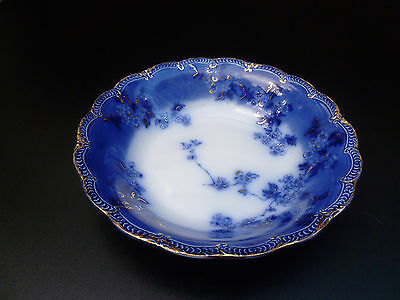 Antique flow blue, royal semi porcelain bowl 1880's 1890's