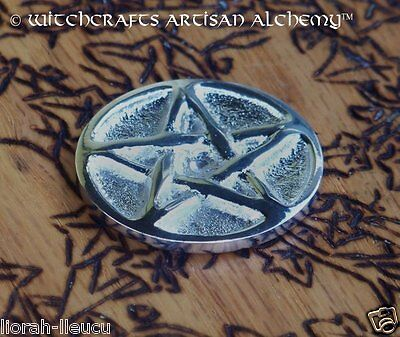 "Silver Pentacle Pentagram Altar Coin 1.25"" Diameter - Witchcraft Wicca Pagan"