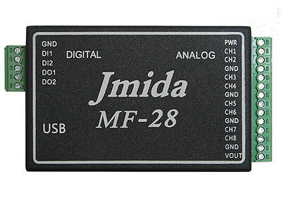 USB Data Acquisition Module 24bit ADC,Multifunction,w/Software,Drivers,Demo Code