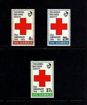 Gambia - 1973 - Red Cross - Gambia Red Cross - Mint - Mnh - Set!