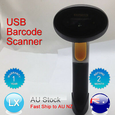 OZ New USB Hand Handheld Visible Laser Scan Barcode Bar Code Scanner Scan Reader