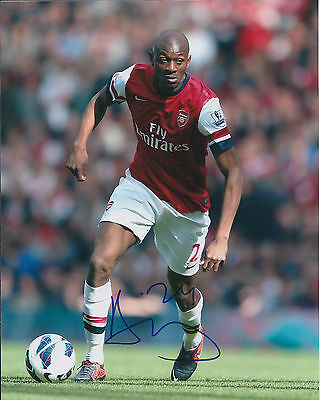 Abou DIABY Signed Autograph 10x8 Photo AFTAL COA ARSENAL Premier League