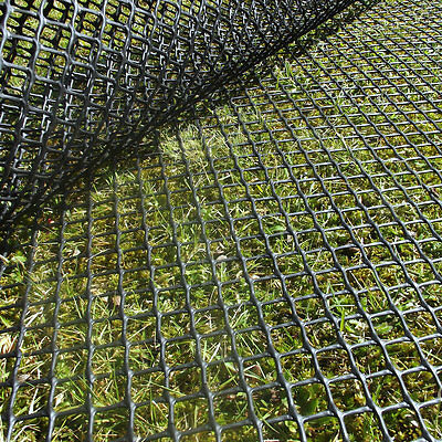 Premium Grass Turf Reinforcement Mesh Ground Protection Car Park, 2m x 30m Black