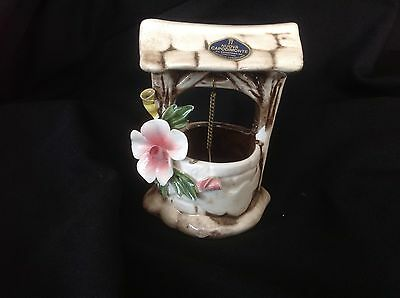 "Lovely Capodimonte Wishing Well Made In Italy  4 1/2"" Tall"