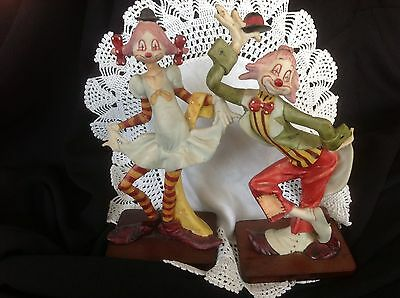 """Collectible Set Of Whimsical Davar Clowns 8"""""""