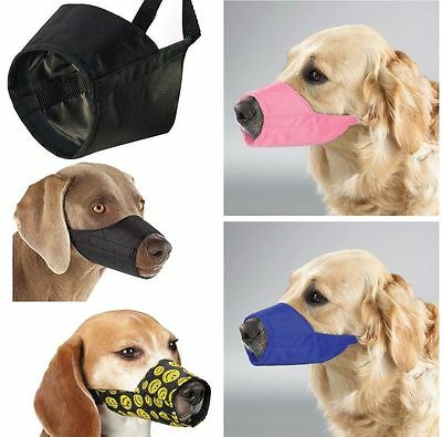 Guardian Gear Lined Nylon Dog Muzzles Adjustable Strap Quick Release All Sizes