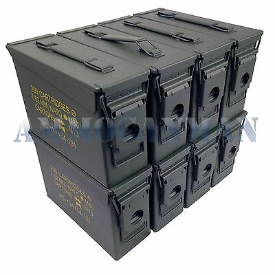 Stenciled 8-Pack New 30 Cal M19A1 Mil Spec Empty Ammo Cans