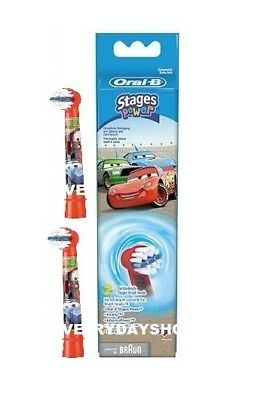 Braun Oral-B Stages Power Kids Replacement Brush Heads Disney cars