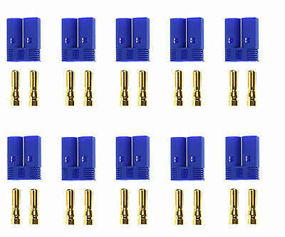 Apex RC Products 10 Male EC5 Battery Connector Plugs #1536