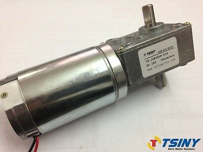 24Vdc 24RPM Worm Gear Motor Variable Speed Gearmotor Dual Shaft Output