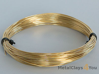 Brass Round Wire Unplated (Half-Hard)