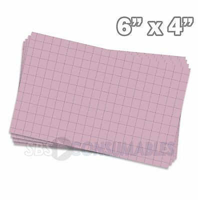 "100x Record Cards Pink Squared Index/Flash/Maths Revision 150x100mm/6x4"" 13232E"