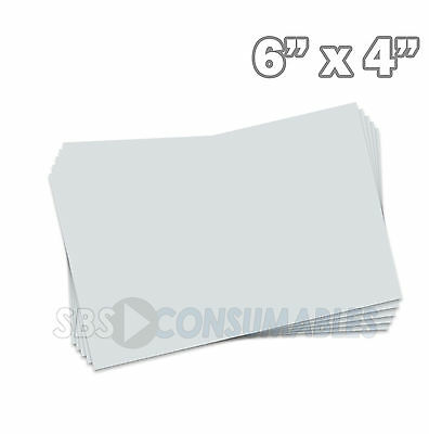 "100x Record Cards White Plain Blank Index/Flash/Revision 150x100mm/6x4"" 13302E"