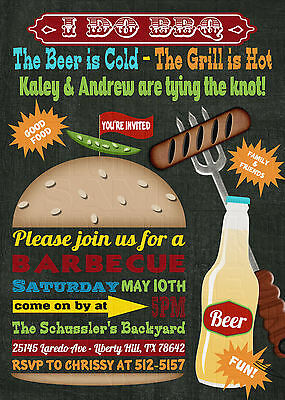 *Print Your Own* I Do BBQ Burger & Beer Couples Bridal Shower Invitation
