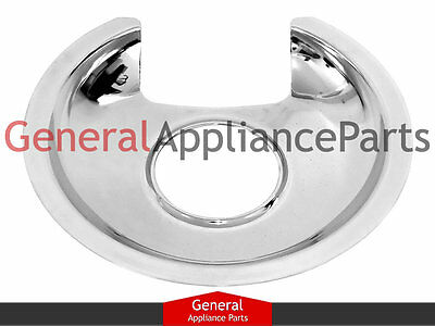 "GE General Electric Stove Range Cooktop 6"" Chrome Burner Drip Pan Bowl WB32X5054"