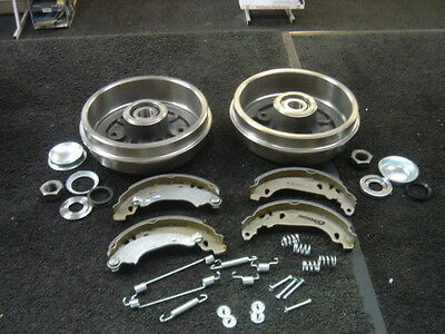 Peugeot 106 206 2 Rear Brake Drum Brake Shoe Fitting Kit Wheel Bearing Fitted