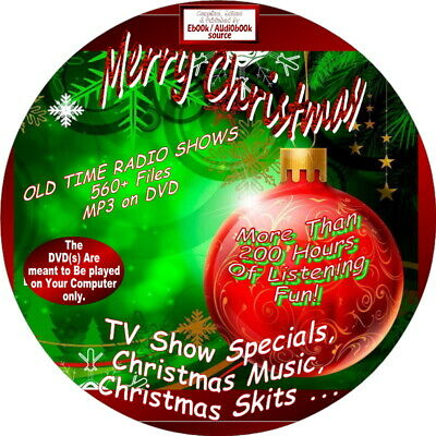 Christmas Shows/Episodes-500+ Old Time Radio Audiobook-DVD, MP3, uNABRIDGED