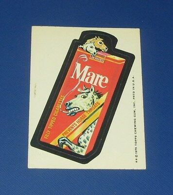 73-75 WACKY PACKAGES SERIES 15 WB MARE CIGARETTES   EX+/EX