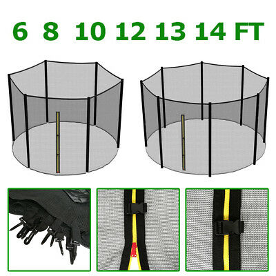 6 8 10 12 13 14 Ft Trampoline Replacement Safety Net Enclosure Surround Outdoor