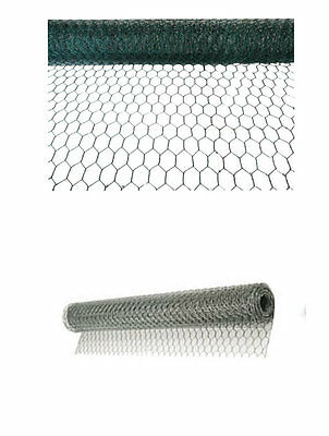 Galvanised Wire Netting Chicken Rabbit Garden Diy Mesh Fencing Farm Roll Barrier