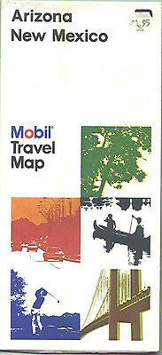 1980s Mobil Arizona/New Mexico Vintage Road Map
