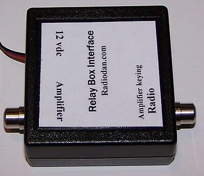 Amplifier keying relay interface for buffer switching positive voltage keying