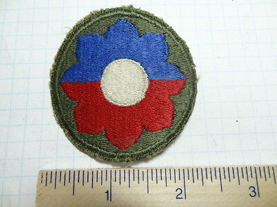 WW2 9TH INFANTRY DIVISION PATCH -  GREEN BACK        #USP405