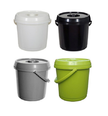 Plastic Nappy Bucket With Lid 14L Storage Container Bins Store Baby Food
