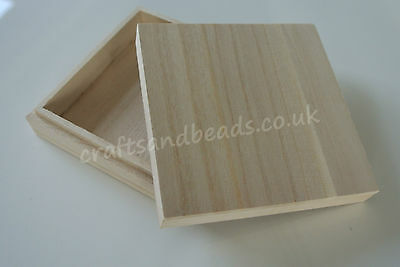 SQUARE WOODEN JEWELLERY BOXES FOR DECORATION or DECOUPAGE