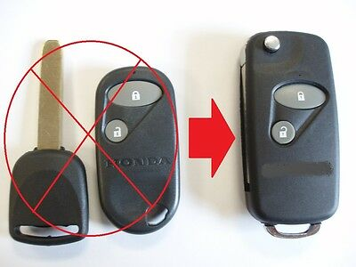 2 btn flip key upgrade for Honda Accord Civic S2000 remote key with flat blade