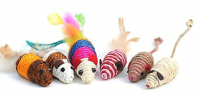 Wholesale Lot Of 120 Mice Cat Toy Mouse Cat Rope Weave Chew Toy Stretch Tail