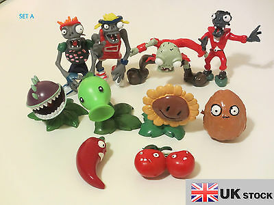 Plants Vs Zombies Character Figure Sets - Six Different Sets - Uk Seller