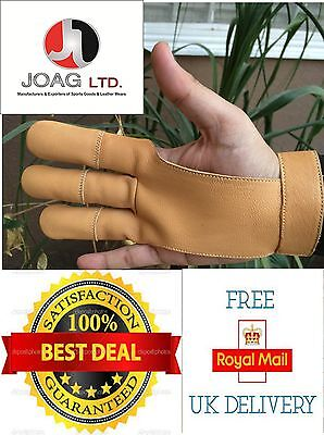 Archers Leather Shooting 3 Fingers Glove Hunting, Bow, Shooting Leather Gloves