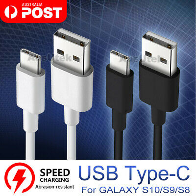 2x FAST USB Type-C USB-C Snyc Charger Cable For Galaxy S10 S9 HUAWEI Mate 9 10