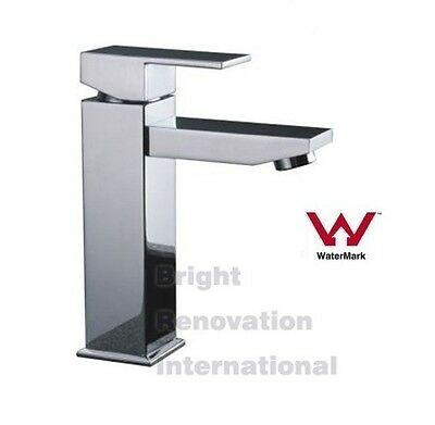 Brand NEW Square COOBY Wide WELS Bathroom Basin Flick Mixer Tap Faucet