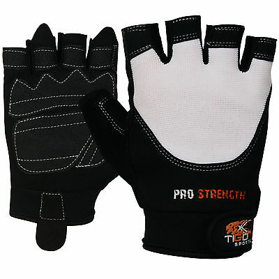 Gel Weight Lifting Body Building Gloves Gym Straps Bar Training Leather Fitness