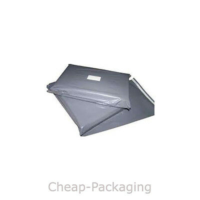 STRONG GREY POSTAGE MAILING BAGS *100% BIODEGRADABLE* Free postage in UK