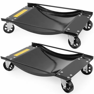 2 PC Set of 1/2 Ton 1000 LB Rolling Vehicle Auto Car tire Dolly Wheels Garage
