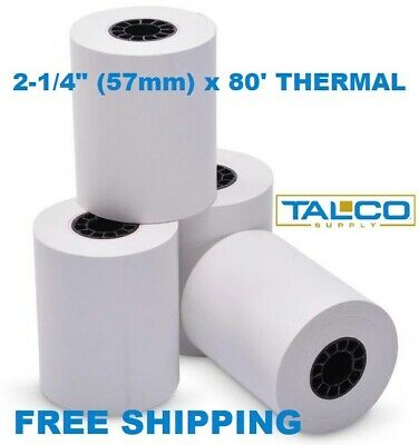 """VERIFONE VX510 (2-1/4"""" x 80') THERMAL RECEIPT PAPER - 100 ROLLS  *FREE SHIPPING*"""