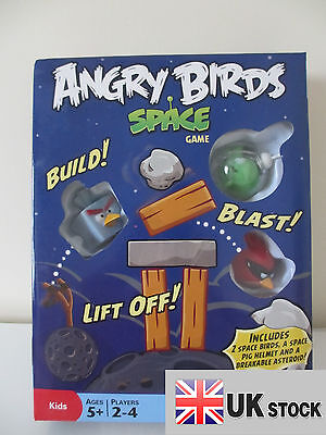 "Angry Birds Knock On Wood Board Game ""IN SPACE""  UK SELLER FAST DELIVERY"