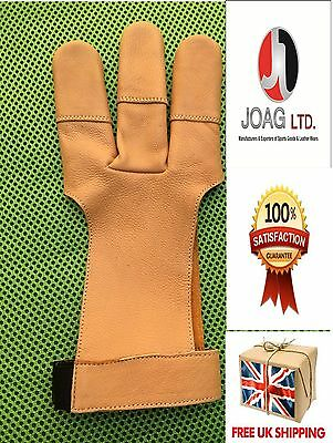 Archers Leather Shooting 3 Fingers Glove,archery Hunting Shooting Leather Gloves